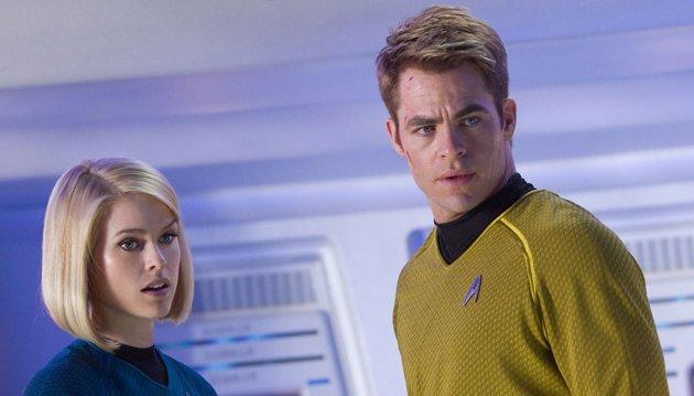 Alice Eve and Chris Pine in 'Star Trek Into Darkness'