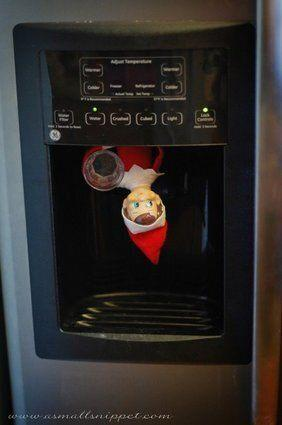 Somewhere, in a mean household, someone decided it was OK to put this creepy elf inside a water dispenser.