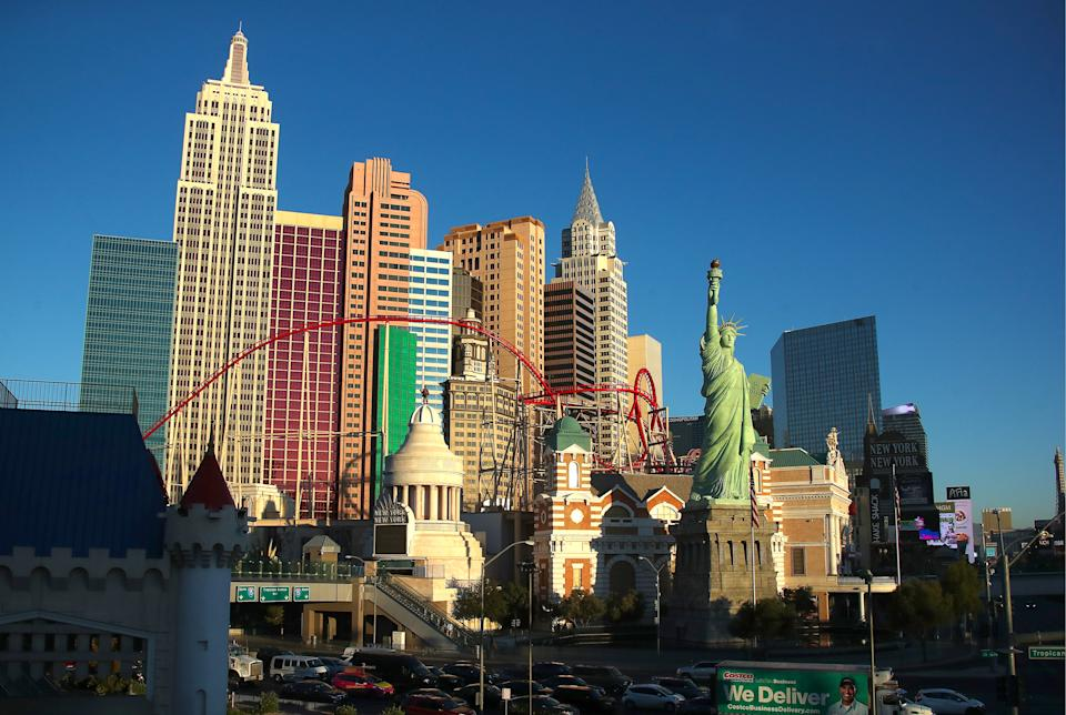 LAS VEGAS, NEVADA, UNITED STATES - NOVEMBER 1, 2019: A view of the New York-New York Resort and Casino. Valery Sharifulin/TASS (Photo by Valery Sharifulin\TASS via Getty Images)