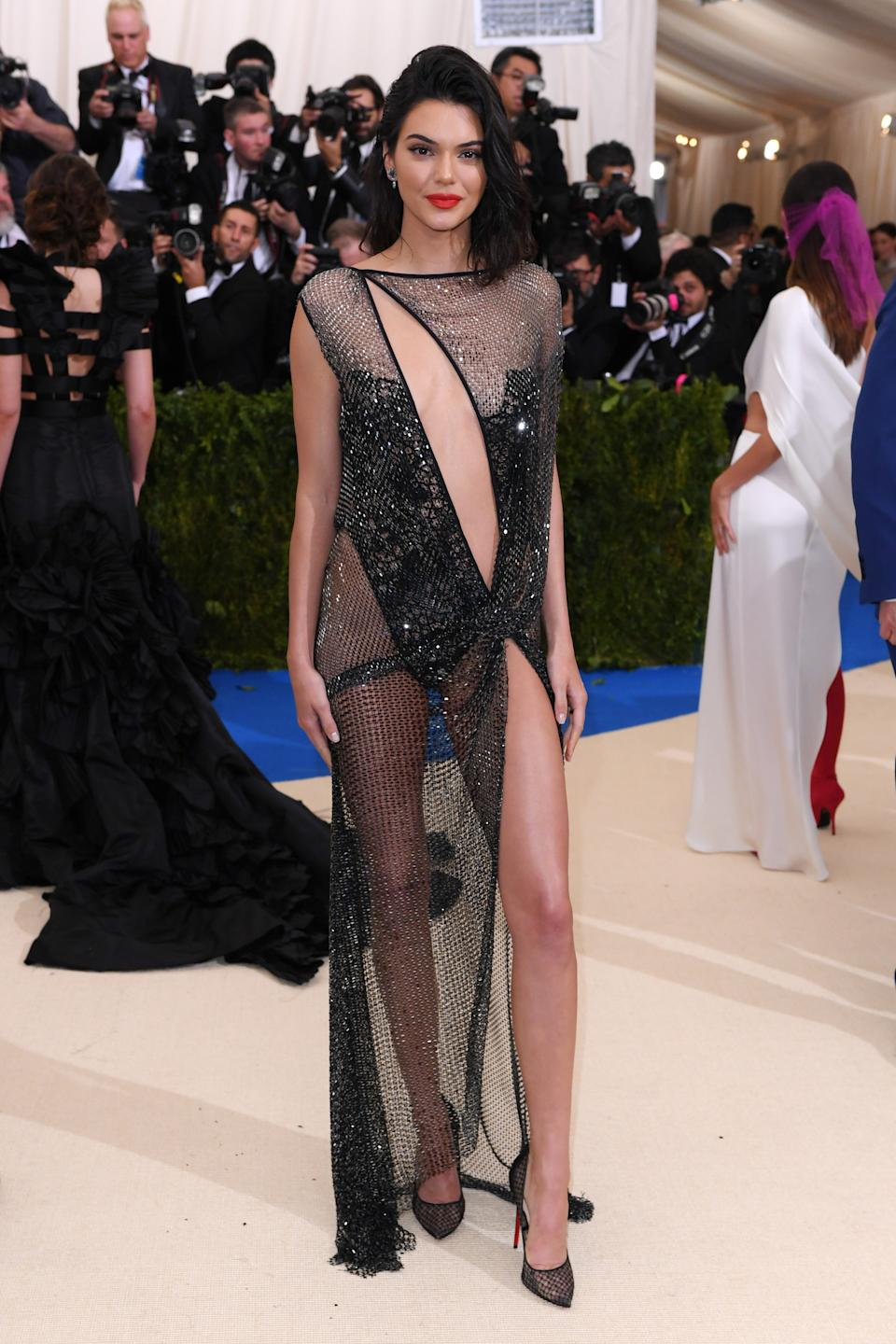 """<h1 class=""""title"""">Kendall Jenner in La Perla and Christian Louboutin shoes</h1><cite class=""""credit"""">Photo: BFA/Shutterstock</cite>"""
