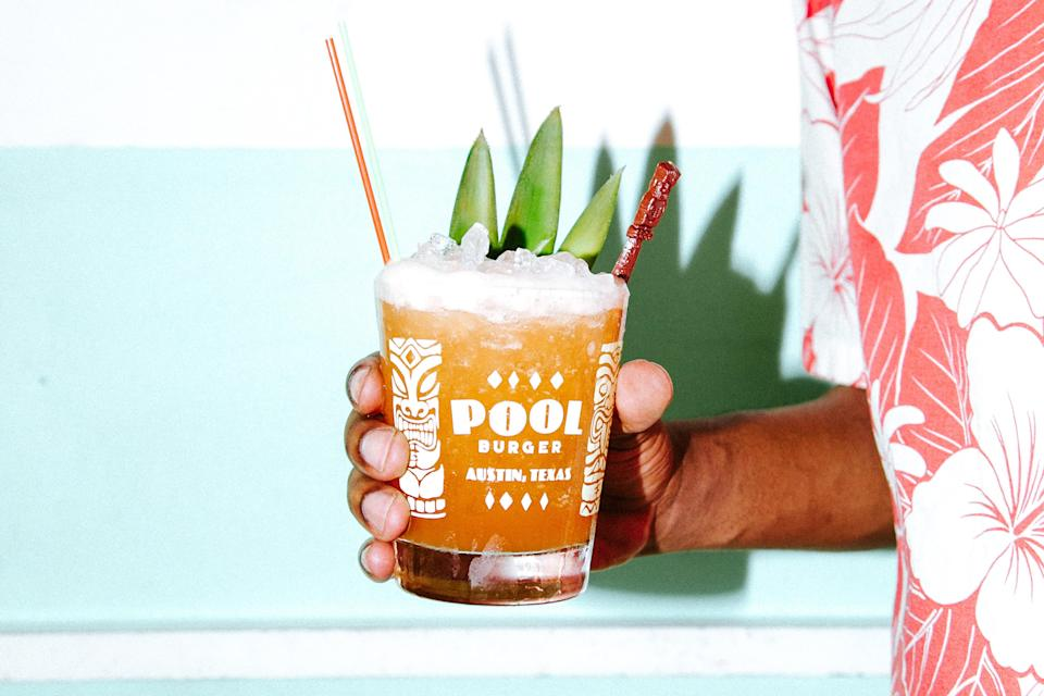 """This riff on the <a href=""""https://www.epicurious.com/recipes/food/views/jungle-bird-cocktail-rum-amaro?mbid=synd_yahoo_rss"""" rel=""""nofollow noopener"""" target=""""_blank"""" data-ylk=""""slk:Jungle Bird"""" class=""""link rapid-noclick-resp"""">Jungle Bird</a> swaps out the blackstrap rum for overproof, and uses lighter, orangey Aperol instead of the Campari. You wind up with a rum cocktail recipe that's ideal for a hot day. <a href=""""https://www.epicurious.com/recipes/food/views/bird-of-paradise-rum-pineapple-lime-tiki-cocktail?mbid=synd_yahoo_rss"""" rel=""""nofollow noopener"""" target=""""_blank"""" data-ylk=""""slk:See recipe."""" class=""""link rapid-noclick-resp"""">See recipe.</a>"""