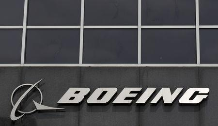 FILE PHOTO: Boeing logo at their headquarters in Chicago