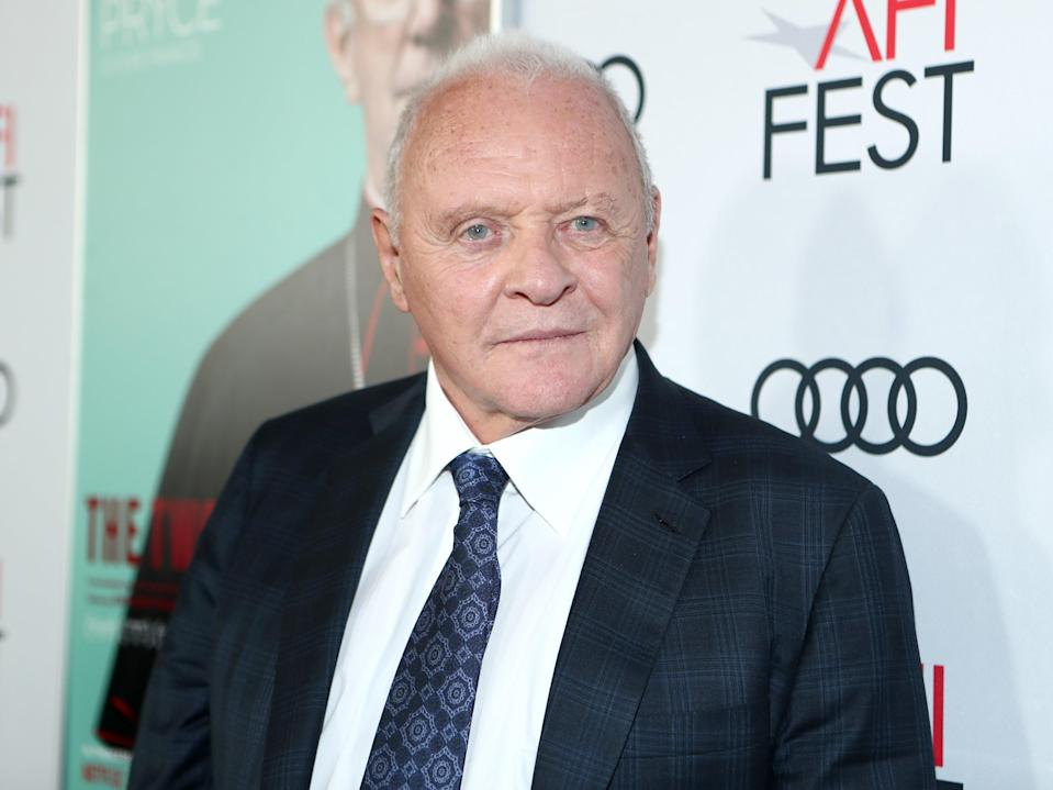 Anthony Hopkins attends an event for The Two Popes on 18 November 2019 in Hollywood, California (Rich Polk/Getty Images for Netflix)