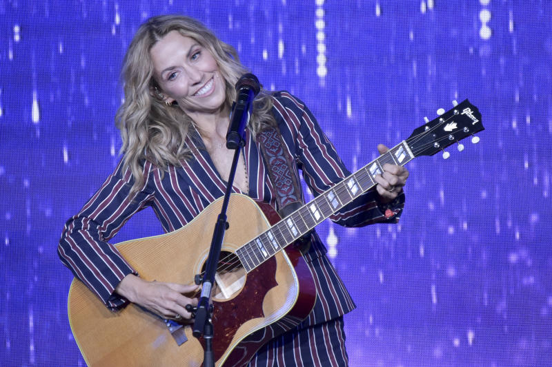 Sheryl Crow performs on stage during the 44th Annual Gracie Awards at the Beverly Wilshire Hotel on Tuesday, May 21, 2019, in Beverly Hills, Calif. (Photo by Richard Shotwell/Invision/AP)