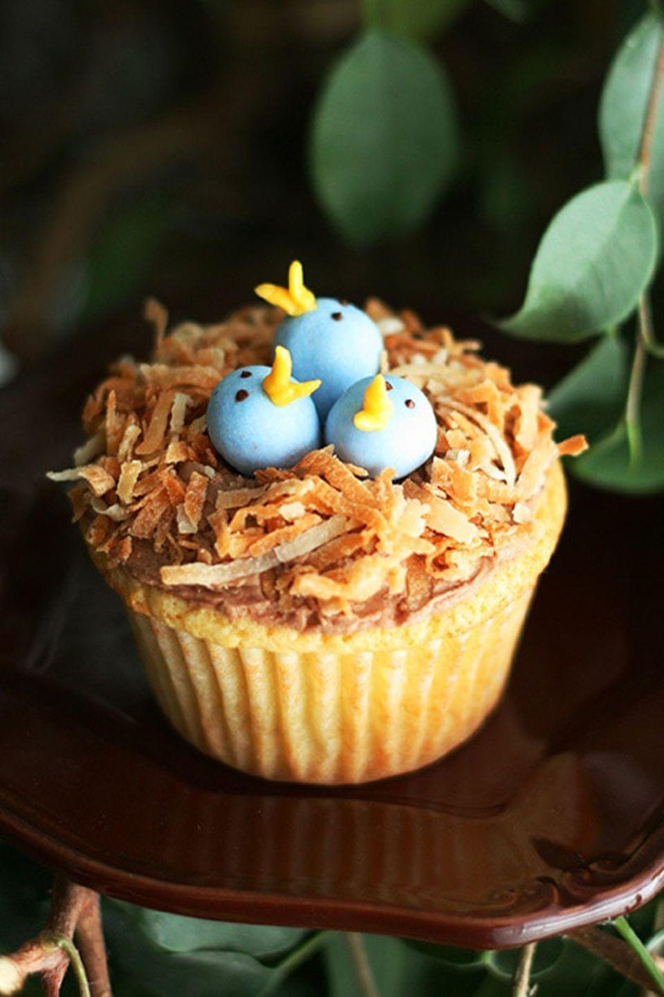 """<p>Hey, baking newbies: These coconut-covered cupcakes will hide any frosting imperfections.</p><p> <a href=""""https://www.cookingclassy.com/birds-nest-cupcakes/"""" rel=""""nofollow noopener"""" target=""""_blank"""" data-ylk=""""slk:Get the recipe from Cooking Classy »"""" class=""""link rapid-noclick-resp""""><em>Get the recipe from Cooking Classy »</em></a></p>"""
