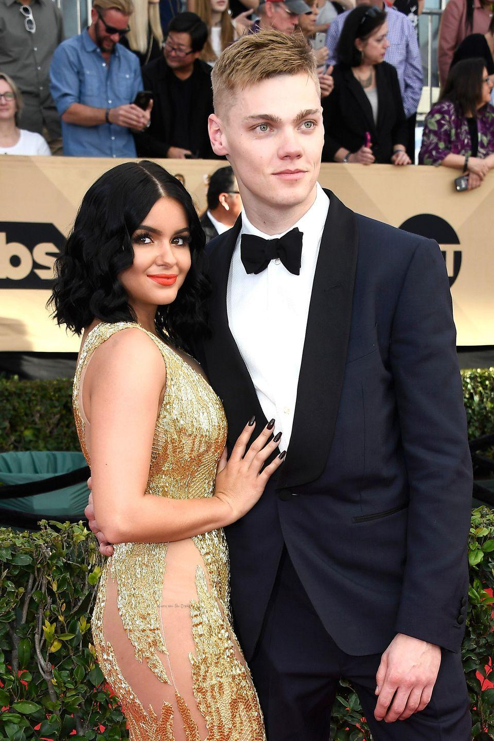 "<p>The 21-year-old <em>Modern Family</em> actress is ten years younger than boyfriend Levi Meaden. The couple celebrated their first anniversary in November of 2017 and are currently living together. In regard to the negative comments about their age difference, Winter told <em><a href=""http://www.refinery29.com/2017/05/156417/ariel-winter-body-confidence-interview"" rel=""nofollow noopener"" target=""_blank"" data-ylk=""slk:Refiney29"" class=""link rapid-noclick-resp"">Refiney29</a> </em>in a 2017 interview: ""I don't understand why someone would even comment on our situation at all. There are tons of people of all ages that live with their boyfriend.""</p>"
