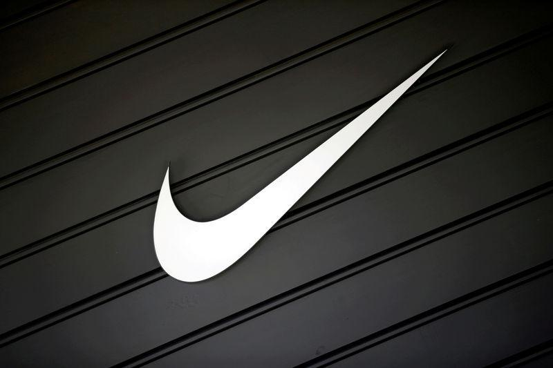 FILE PHOTO: The logo of Nike is seen in Los Angeles, California, U.S., April 12, 2016. REUTERS/Lucy Nicholson/File Photo