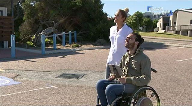Jaimen Hudson is a 27-year-old tetraplegic from Esperance, in Western Australia. Picture: Today Tonight