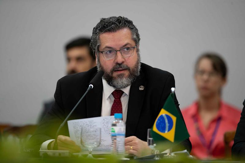 ***ARQUIVO*** BENTO GONCALVES, RS, 04..12.2019: Ministro Ernesto Araujo. (Foto: LIAMARA POLLI/AM Press & Images/Folhapress)