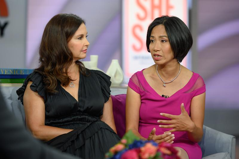 TODAY -- Pictured: Ashley Judd and Rowena Chiu on Monday, September 9, 2019 -- (Photo by: Nathan Congleton/NBC/NBCU Photo Bank via Getty Images)