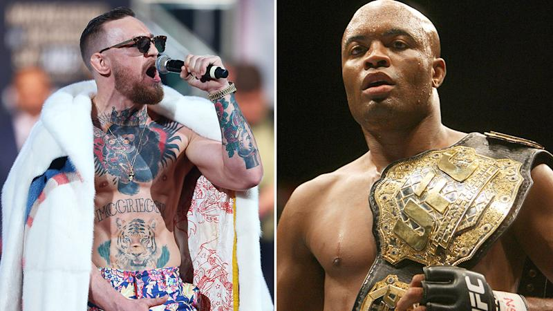 Pictured here, UFC greats Conor McGregor and Anderson Silva.