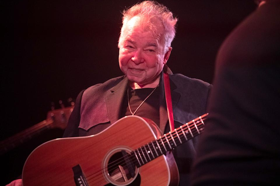 LOS ANGELES, CALIFORNIA - JANUARY 25: Singer John Prine, recipient of the 2020 Recording Academy's Lifetime Achievement Award,  performs onstage during AMERICANAFEST's Pre-GRAMMY Salute to Willie Nelson at The Troubadour on January 25, 2020 in Los Angeles, California. (Photo by Scott Dudelson/Getty Images)