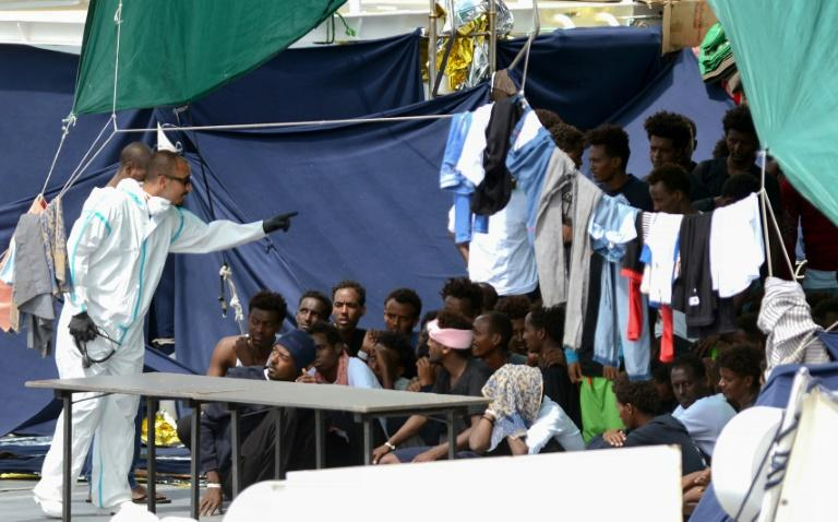 More than 100 rescued migrants were forced to stay on board the Italian coastguard vessel 'Diciotti' for more than 10 days