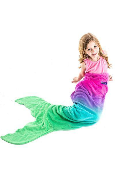 """<p>$35 </p><p><a rel=""""nofollow noopener"""" href=""""https://www.amazon.com/Original-Blankie-Tails-Mermaid-Blanket/dp/B01MQDNUMY/ref=pd_ybh_a_7"""" target=""""_blank"""" data-ylk=""""slk:SHOP NOW"""" class=""""link rapid-noclick-resp"""">SHOP NOW</a><br></p><p>Mom and Dad won't struggle to get their little mermaid to go to bed once they're cozied up in this fun, colorful blanket. </p>"""