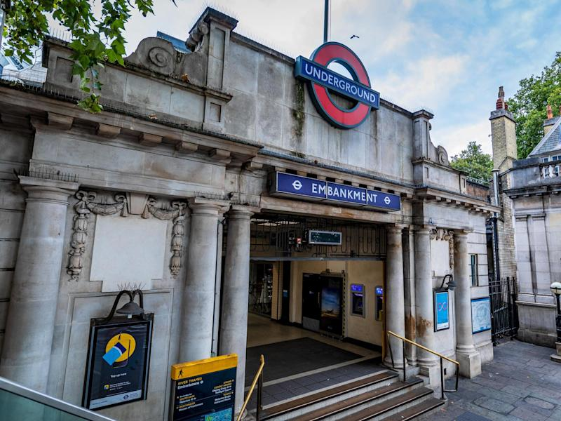 The offence took place at Embankment station in London: Getty iStock