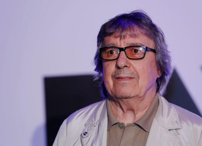Rolling Stone's Bill Wyman arrives for a gala screening of '20,000 Days on Earth' at the Barbican in London