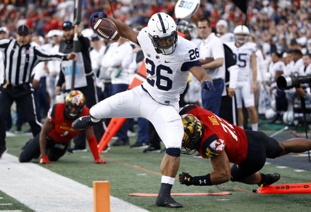 Penn State and Saquon Barkley will be challenged by the Washington defense in the Fiesta Bowl. (AP Photo/Patrick Semansky)