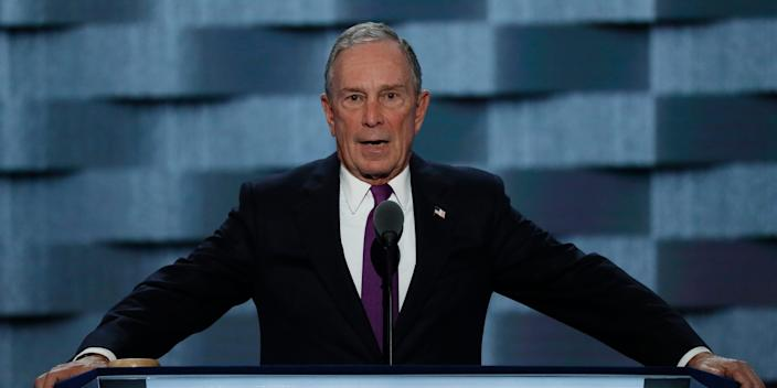 Mike Bloomberg at 2016 DNC