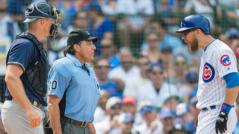 Zobrist ejected for first time in career