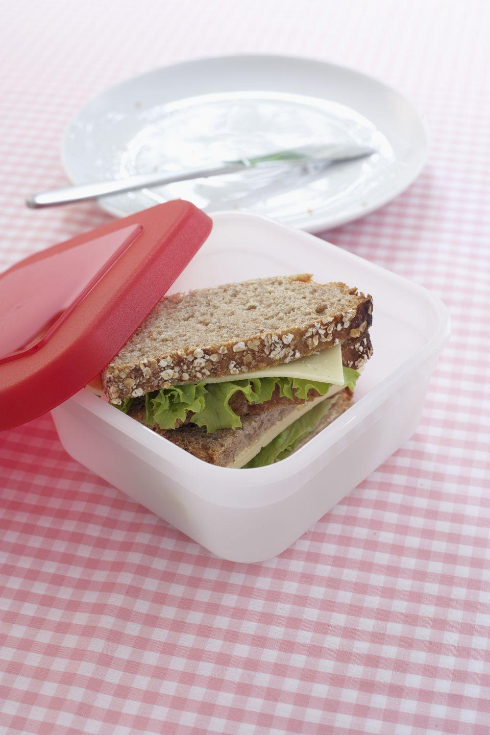 <p>If it starts to permanently smell like leftovers, gets cracked or is discolored from too much time in the microwave, you should replace the plastic containers. </p>