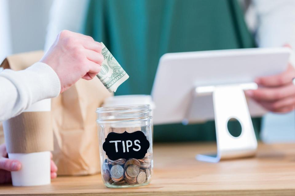 """""""Before COVID, only a small percentage of customers gave tips when picking up takeout,"""" says restaurant consultant Izzy Kharasch. """"The pandemic has changed things."""""""