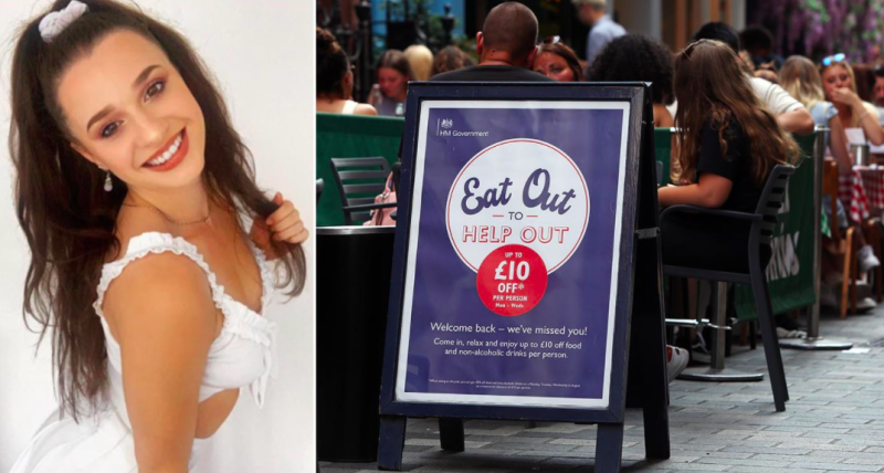 Waitress Mimi Smithson has spoken out about being on the receiving end of customer abuse during the Eat Out to Help Out scheme. (Supplied/Mimi Smithson/PA)