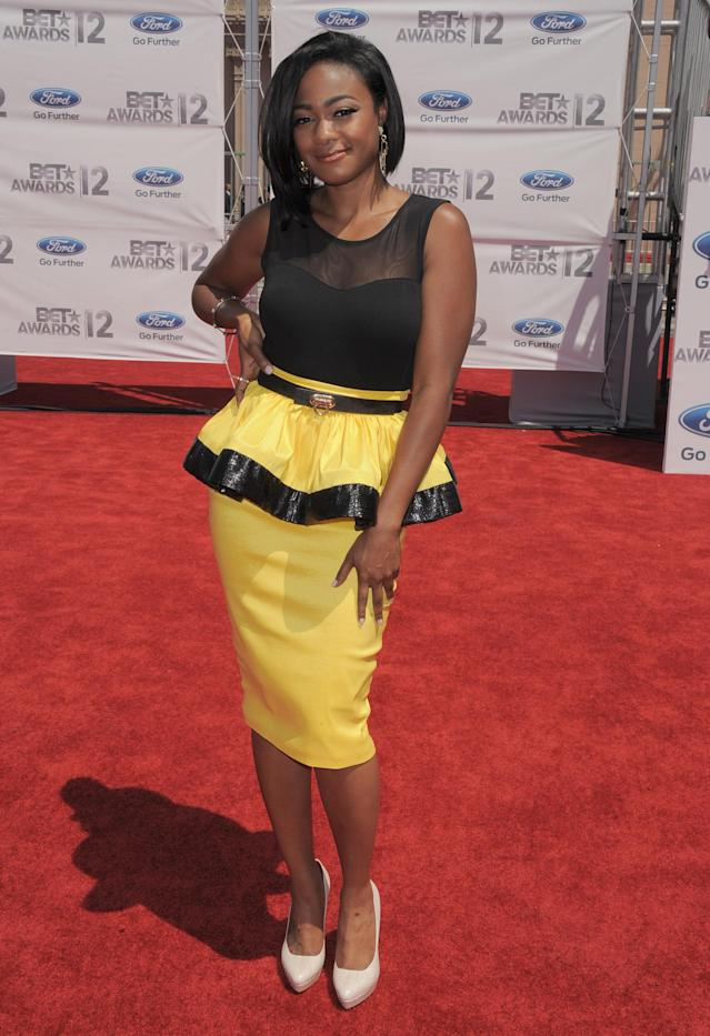 Tatyana Ali arrives at the BET Awards on Sunday, July 1, 2012, in Los Angeles. (Photo by Jordan Strauss/Invision/AP)