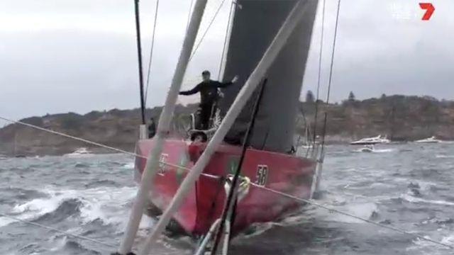 Those aboard Comanche left fuming. Image: Channel 7