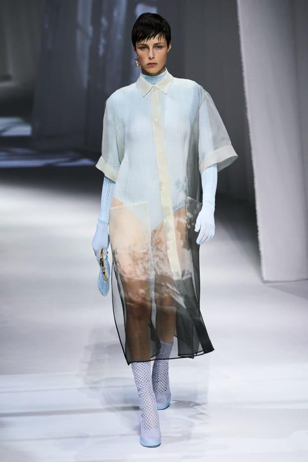 <p>A look from the Fendi Spring 2021 collection. </p>