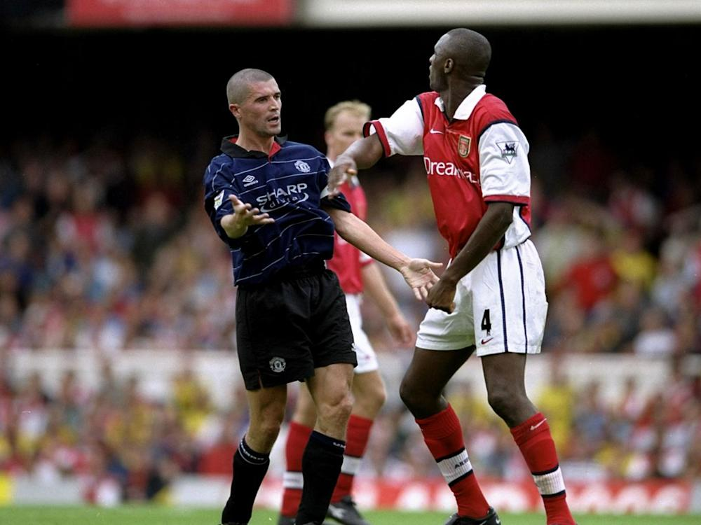 Keane enjoyed a famous rivalry with Arsenal during his United career (Getty)