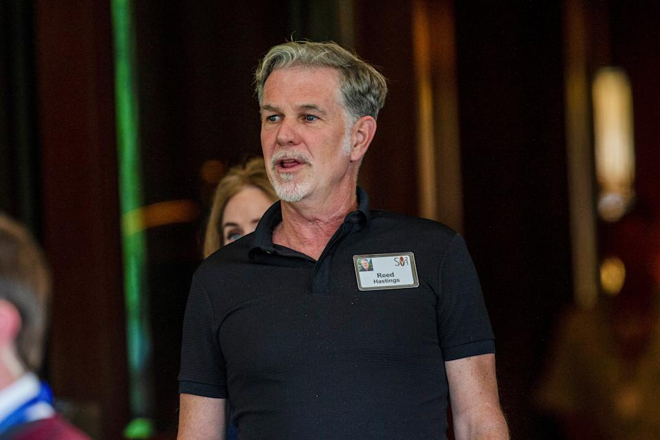 Reed Hastings, co-founder, chairman, and co-chief executive officer of Netflix, arrives for the annual Allen and Co. Sun Valley media conference in Sun Valley, Idaho, U.S. July 6, 2021.  REUTERS/Brian Losness
