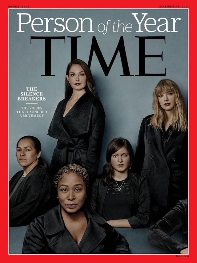 "The ""Silence Breakers"" were named <em>Time</em> magazine's Person of the Year in December. (Photo: Time Magazine)"