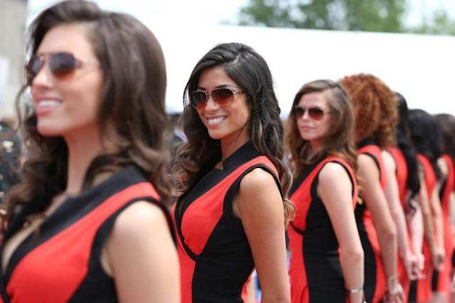 Grid Girls vom Kanada-GP (Bild: AP)