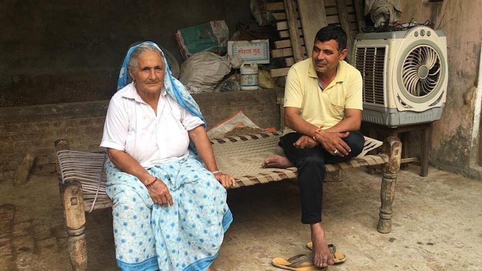 """<div class=""""paragraphs""""><p>This is Kuldeep's brother and their mother. She swears that her son did no wrong and the woman is a liar.</p></div>"""