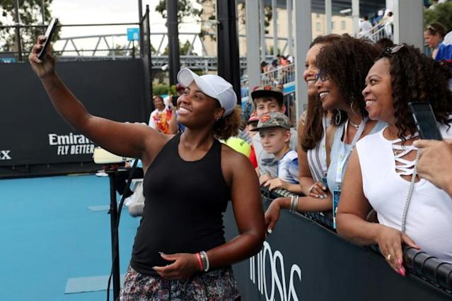 """American Taylor Townsend says she's been called """"literally all"""" of the American female black tennis players except herself (AFP Photo/DAVID GRAY)"""