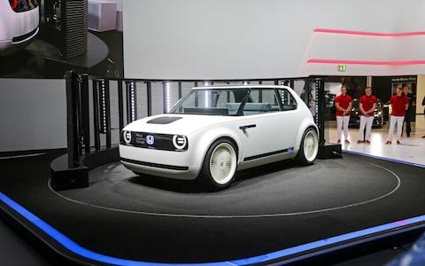 The Honda Urban EV electric concept car was the star of the show - Credit: ARMANDO BABANI /EPA