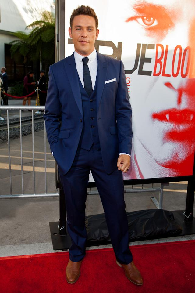 "Kevin Alejandro attends HBO's ""True Blood"" Season 5 Los Angeles premiere at ArcLight Cinemas Cinerama Dome on May 30, 2012 in Hollywood, California."
