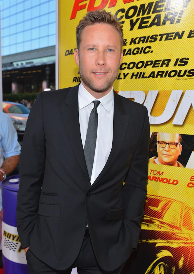 """LOS ANGELES, CA - AUGUST 14:  Actor Michael Rosenbaum arrives to the premiere of Open Road Films' """"Hit and Run"""" on August 14, 2012 in Los Angeles, California.  (Photo by Alberto E. Rodriguez/Getty Images)"""
