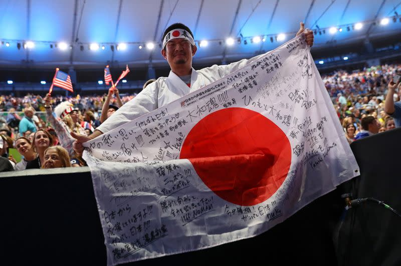 FILE PHOTO: Kazunori Takishima is pictured before the opening ceremony of the Rio 2016 Olympic Games in Rio de Janeiro