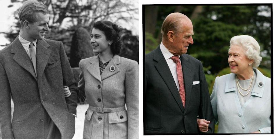 "<p>Prince Philip, the Duke of Edinburgh, has passed away today (April 9, 2021) aged 99.</p><p>The news was confirmed in a statement on behalf of the Queen from Buckingham Palace: </p><p>'It is with deep sorrow that Her Majesty The Queen announces the death of her beloved husband, His Royal Highness The Prince Philip, Duke of Edinburgh. His Royal Highness passed away peacefully this morning at Windsor Castle. Further announcements will be made in due course. The Royal Family join with people around the world in mourning his loss.'</p><p>The Duke of Edinburgh is the longest serving consort in British history, the <a href=""https://www.elle.com/uk/life-and-culture/a32835674/queen-video-call-zoom/"" rel=""nofollow noopener"" target=""_blank"" data-ylk=""slk:Queen"" class=""link rapid-noclick-resp"">Queen</a> and Prince Philip were married for 73 years.</p><p>To mark their 73rd wedding anniversary in November 2020, Buckingham Palace released a new, rare photo of the royal couple taken at Windsor Castle. The picture is the most recent photograph of the royal couple together, before that another was shared in June 2020, when the Duke of Edinburgh celebrated his 99th birthday.</p><p>To commemorate the Duke of Edinburgh and the Queen's marriage, here is a look back of their most iconic and famous photos throughout their many years together.</p>"