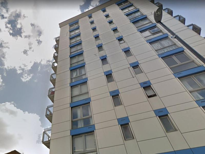 The privately-owned block is fitted with ACM cladding panels - the same as Grenfell Tower: Google Maps