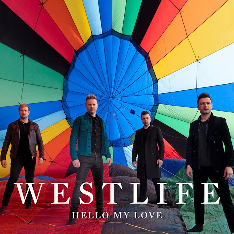 Comeback: Westlife on the artwork for their comeback single Hello My Love (Westlife)