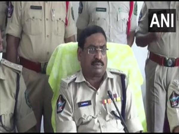 Deputy Commissioner of Police Suresh Babu speaking to reporters in Visakhapatnam on Saturday. [Photo/ANI]