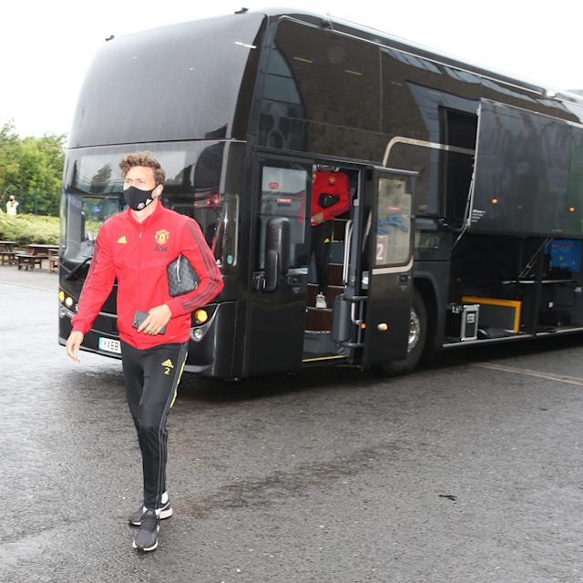 Victor Lindelof of Manchester United arrives ahead of the Premier League match between Brighton & Hove Albion and Manchester United - GETTY IMAGES