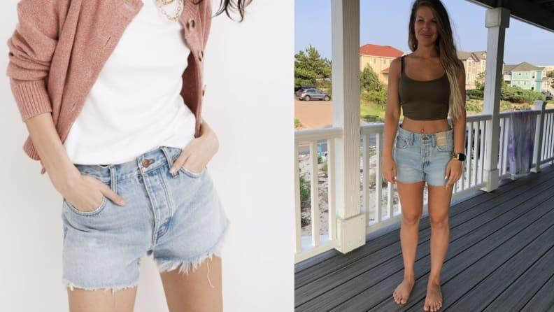 I was shocked by how loose the Madewell shorts were, especially around the waist.