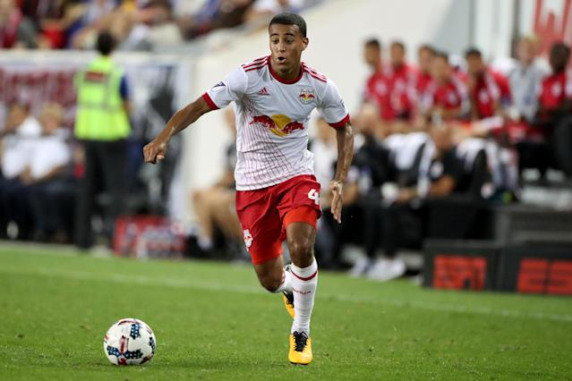 "<a class=""link rapid-noclick-resp"" href=""/soccer/players/tyler-adams/"" data-ylk=""slk:Tyler Adams"">Tyler Adams</a> is one of five uncapped players on the U.S. men's national team roster for a friendly against Portugal. (Getty)"