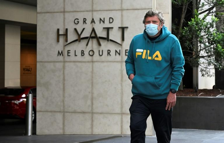 Hundreds of players who stayed at a Melbourne hotel are being tested for Covid-19