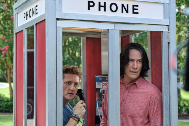 Alex Winter and Keanu Reeves in the first trailer for <em>Bill &amp; Ted Face the Music</em>. (Photo: Orion Pictures)
