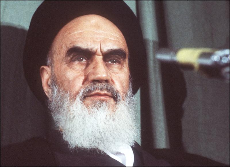 Ayatollah Ruhollah Khomeini in Tehran on February 5, 1979, several days after his return from exile (AFP Photo/GABRIEL DUVAL)