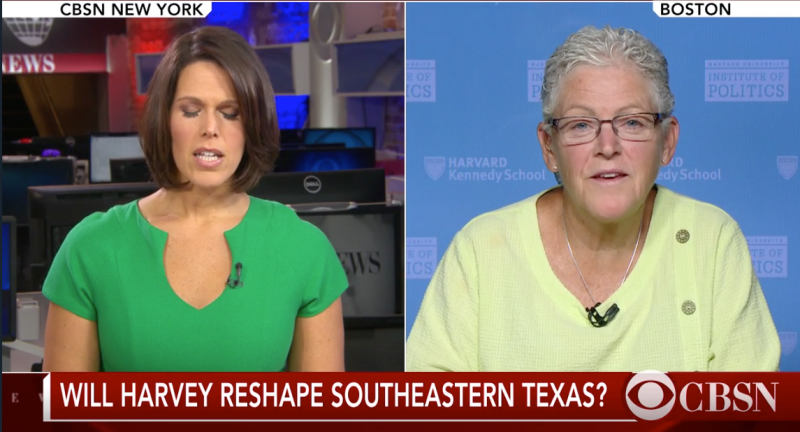 Former EPA Administrator Gina McCarthy, right, discussed regulations rolled back by the Trump administration in an interview on CBS News. (CBS)